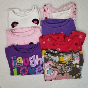 Baby Girl Long Sleeve Shirts Tops Lot of 7